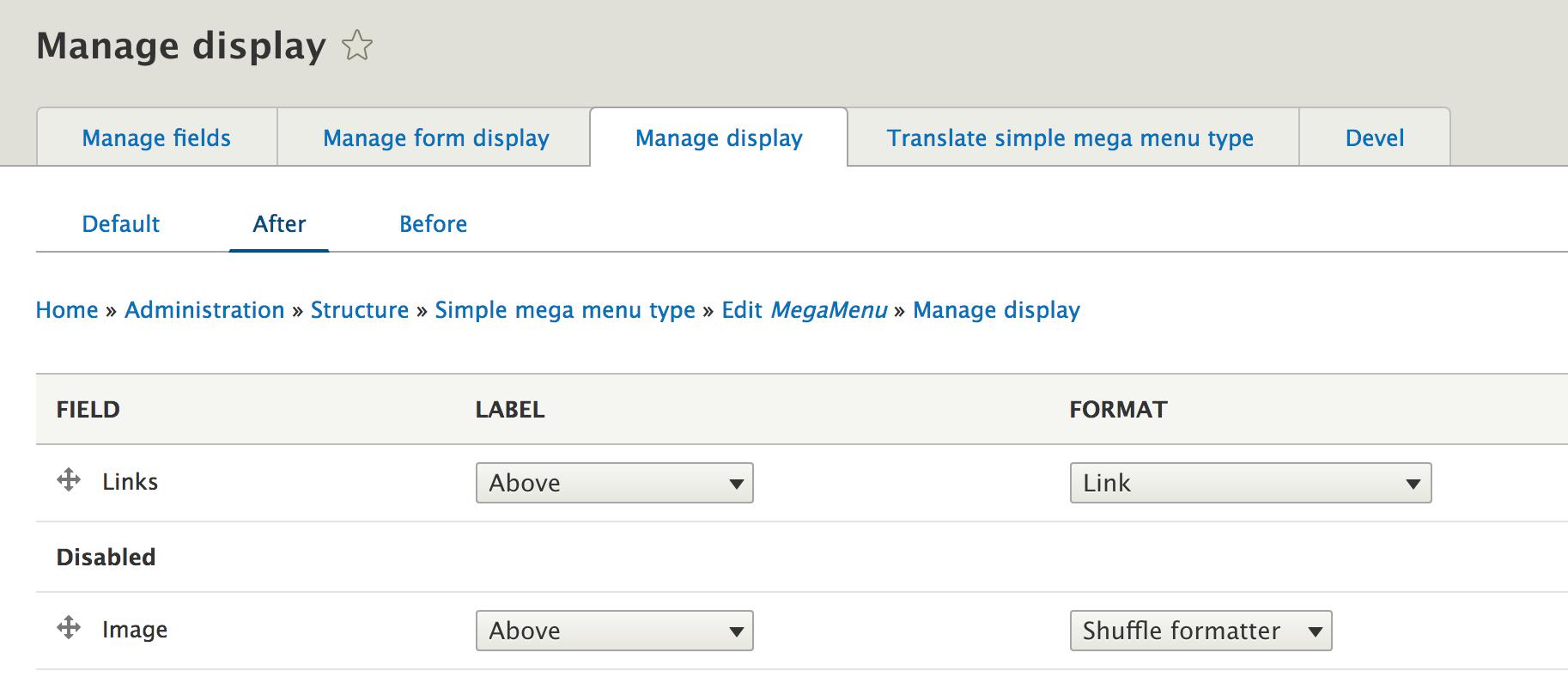Create a mega menu with Drupal 8 | Flocon de toile