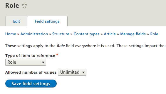 Introduction to Drupal 8 module : Permissions by field