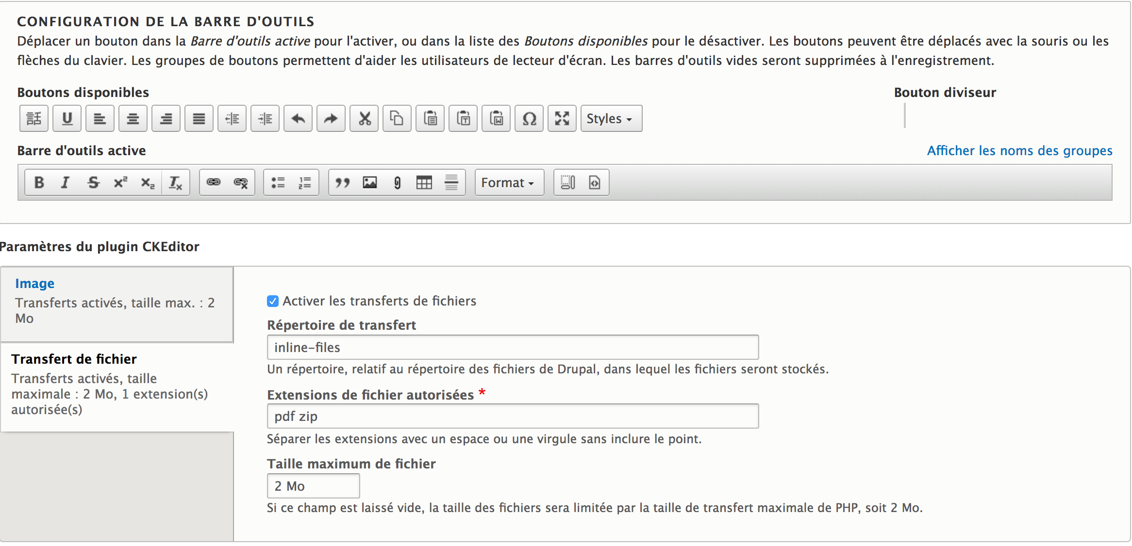 Inserting attachments into a body with Drupal 8 | Flocon de