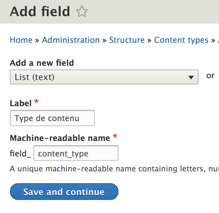 Automatically provide options to a list field type with