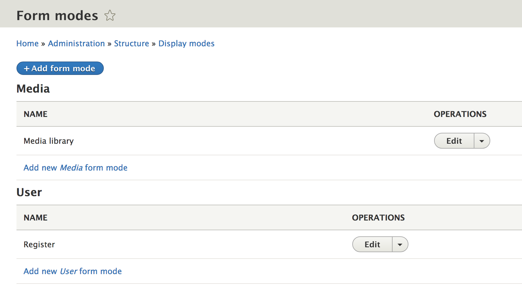 Provide a custom mode form to entities with Drupal 8 | Flocon de toile