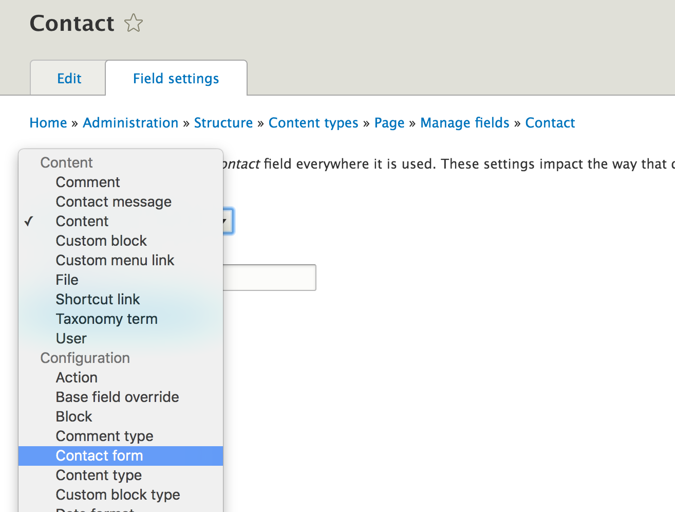 Drupal 8 : Inject a contact form inside a content type in 5