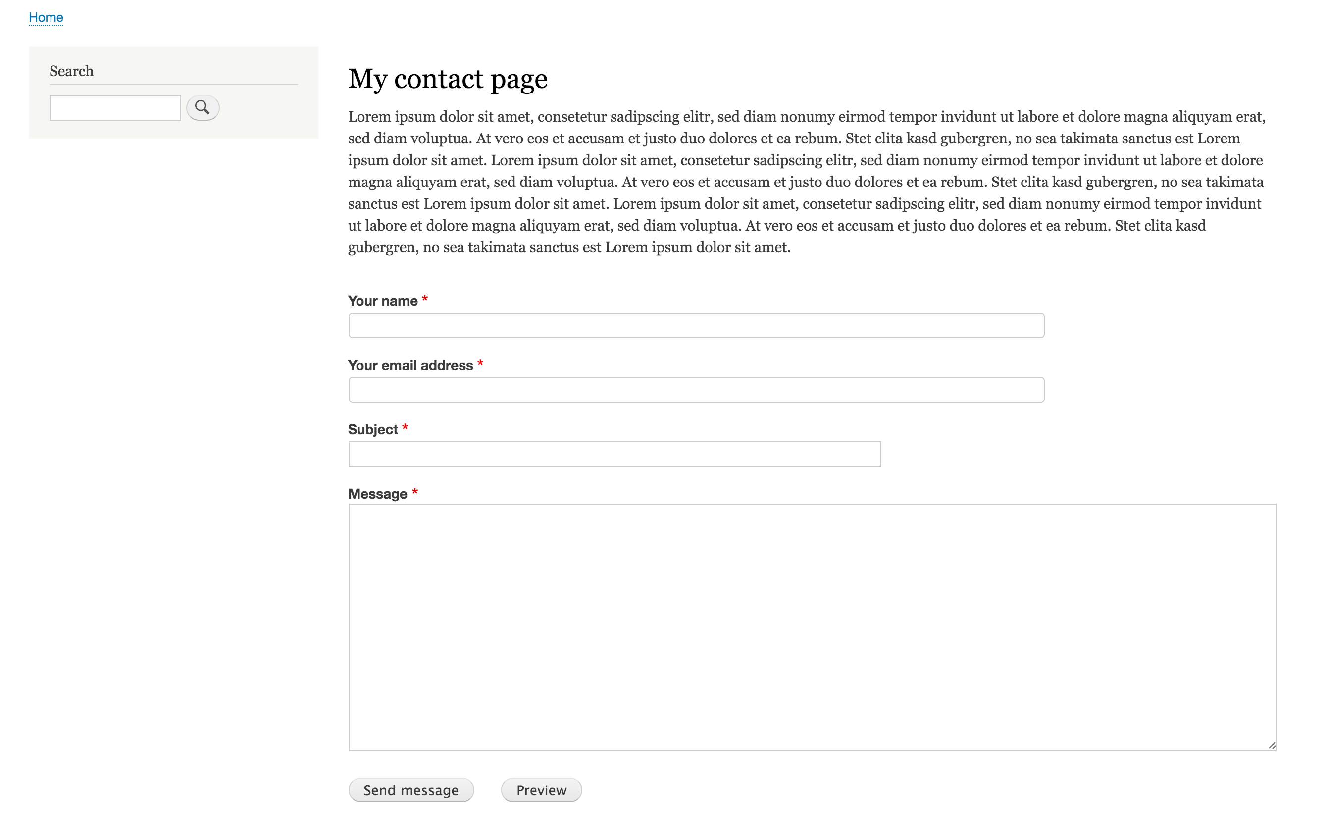 how to create a contact form in drupal 7