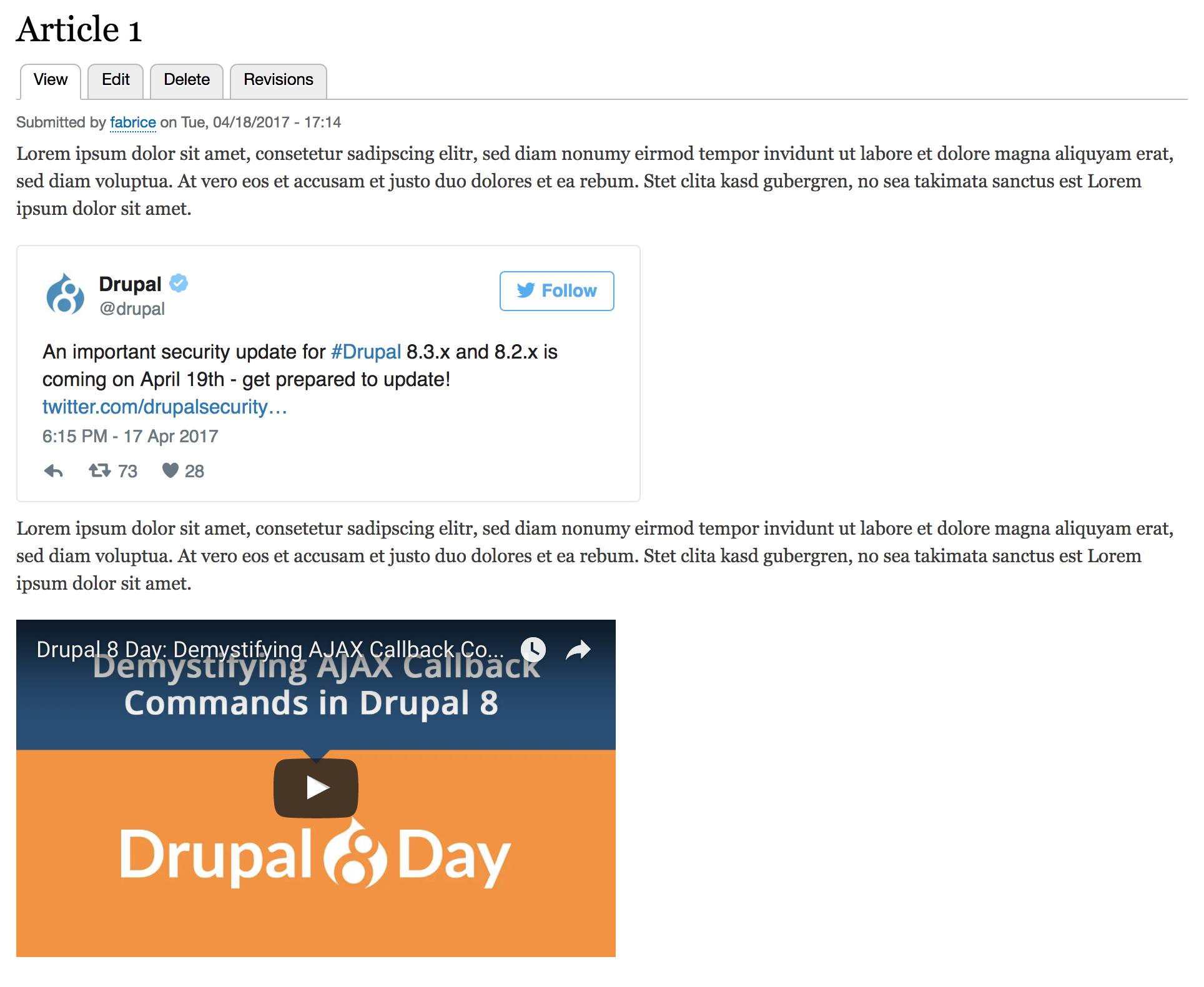 Integrate third-party media with URL embed on Drupal 8