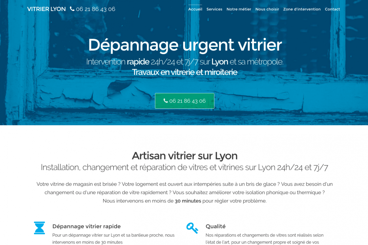 Site internet vitrier Lyon